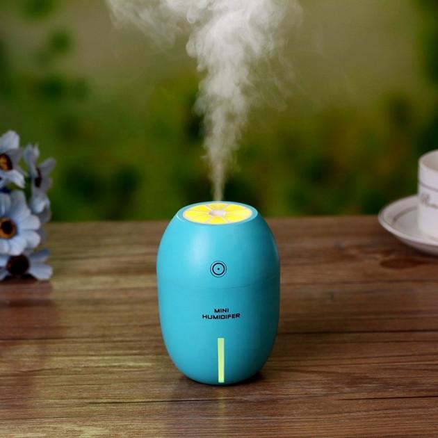 Ультразвуковой мини увлажнитель воздуха Humidifier Lemon голубой