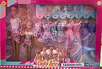 Кукла Defa Lucy 8447 Барби с дочкой, одежда, аксессуары