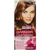 Стойкая крем-краска для волос Garnier Color Sensation 6.35 Золотисто-каштановый, фото 1