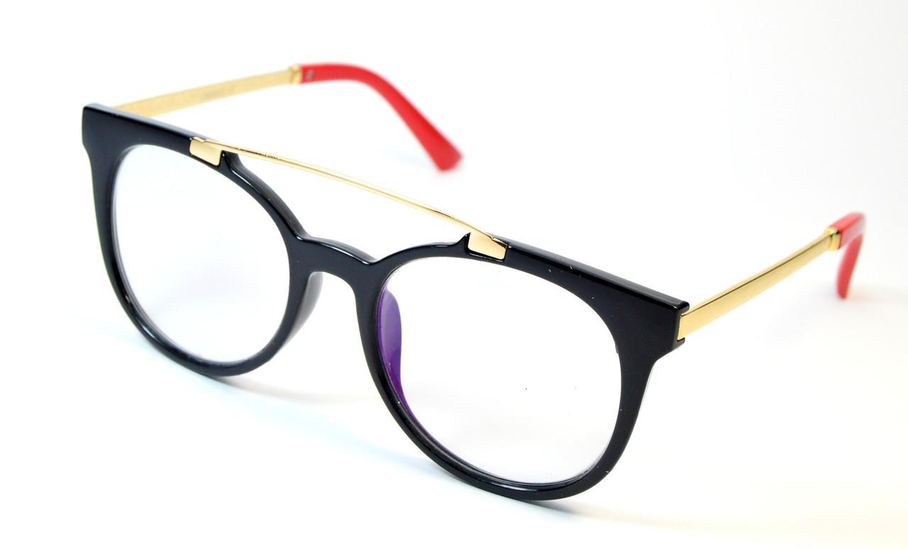 Женские компьютерные очки стекло (Комп 7138 ч-к)