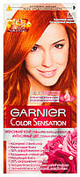 Стойкая крем-краска для волос Garnier Color Sensation 7.40 Янтарный ярко-рыжий, фото 1