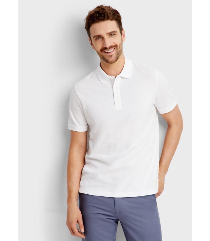 Мужская футболка поло белая 12-30