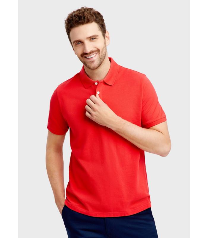 Мужская футболка поло красная 12-40