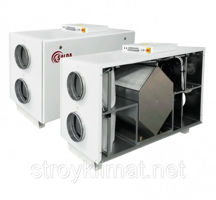 Приточно-вытяжные установки с пластинчатым рекуператором Salda RIS 1200 HW EKO 3.0