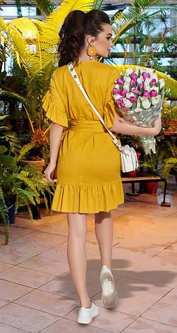 Жовте жіноче плаття з льону 42,44,46 р., фото 2