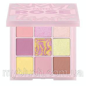 Тени для век HUDA BEAUTY Pastel Obsessions Palette ROSE (9 цветов) люкс
