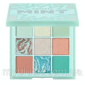 Тени для век HUDA BEAUTY Pastel Obsessions Palette MINT (9 цветов) люкс