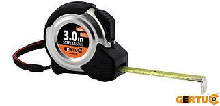 Рулетка измерительная   3м x 16мм, толщина 0,135мм, стальной корпус, GMIARSTAL3, Gertu