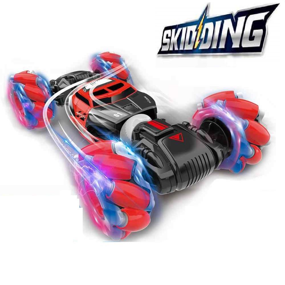 Машинка перевертыш на радиоуправлении Stunt car Skidding.Трюковая машинка перевертыш с управлением от руки.