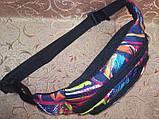 Сумка на пояс Ткань Принт спортивные барсетки сумка только опт, фото 4