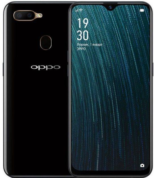 """Смартфон с мощной батареей со сканером отпечатков пальцев и большим экраном 6,2"""" 3/32Gb OPPO A5s черный"""