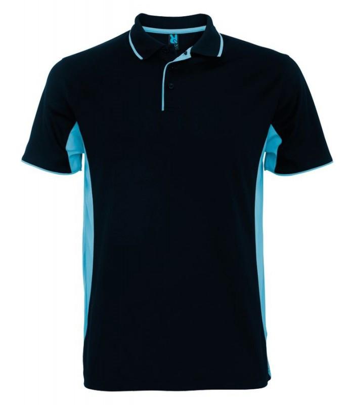 Мужская спортивная футболка поло темно-синяя 0421-32