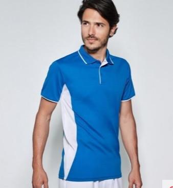 Мужская спортивная футболка поло синяя 0421-51