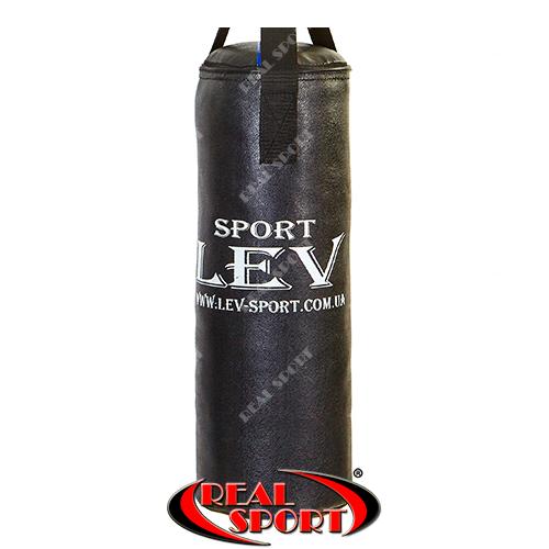 Мішок боксерський Циліндр Кирза h-65см Lev LV-2825 чорний