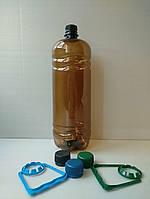 Пластиковая ПЕТ тара, бутылка 1,5л. (темная)