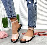 Женские кожаные босоножки сандалии на низком ходу (разные цвета), фото 2