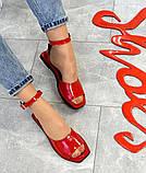 Женские кожаные босоножки сандалии на низком ходу (разные цвета), фото 4