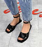 Женские кожаные босоножки сандалии на низком ходу (разные цвета), фото 5