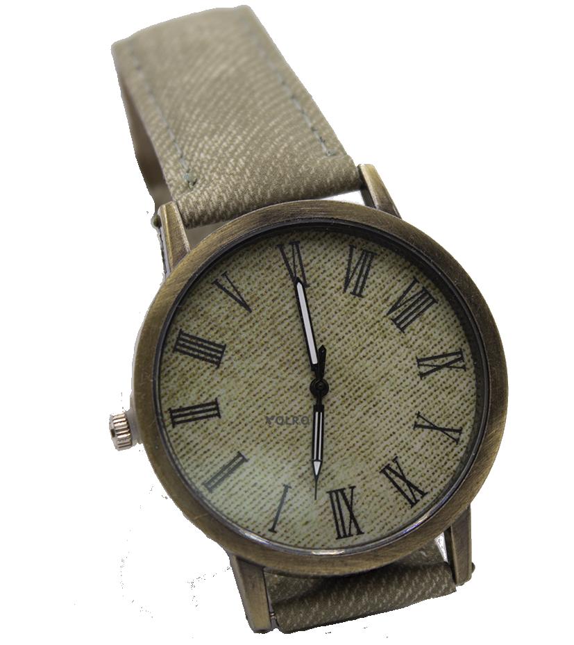 Наручные часы джинсовые VOLRO Бежевый (vol-443)