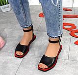 Женские кожаные босоножки сандалии на низком ходу (разные цвета), фото 7