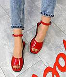 Женские кожаные босоножки сандалии на низком ходу (разные цвета), фото 9