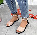 Женские кожаные босоножки сандалии на низком ходу (разные цвета), фото 10