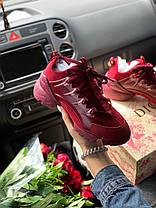 Женские кроссовки в стиле Christian Dior D-Connect бордовые, фото 2
