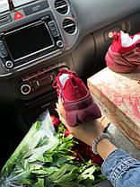Женские кроссовки в стиле Christian Dior D-Connect бордовые, фото 3