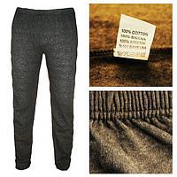 Теплые зимние домашние муж штаны/гамаши  ТУРЦИЯ M-Темно-серый