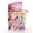Дерев'яний будиночок для ляльок з меблями MD 2411, 3 поверхи, фото 2