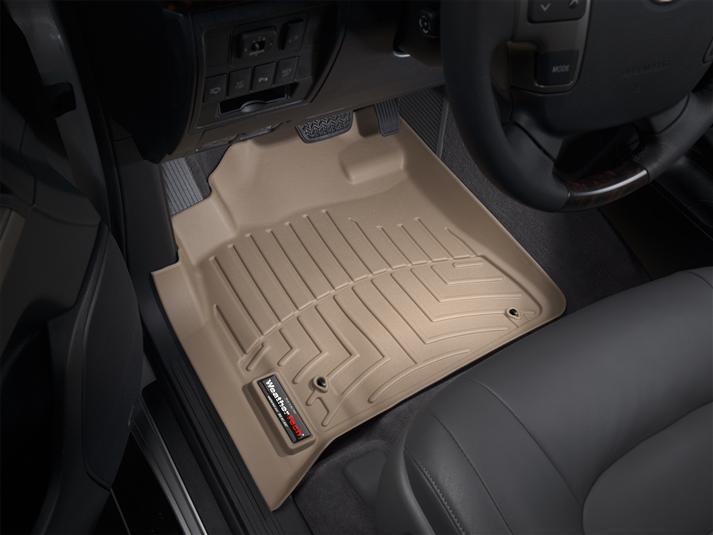 Ковры резиновые WeatherTech Toyota LC200 2008-2012 передние бежевые