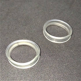Комплект сменных силиконовых колец для парикмахерских ножниц, 2 шт.,прозрачные