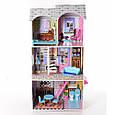 Ігровий будиночок для ляльок Барбі з меблями MD 2412, 3 поверхи, дерево, фото 2