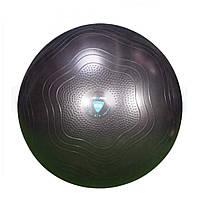 Фітбол укріплений LivePro ANTI-BURST CORE-FIT EXERCISE BALL, PVC, d-75см, 1.22 кг, чорний (LP8201-75)