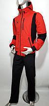 Мужской спортивный трикотажный костюм Puma батал двухнитка копия