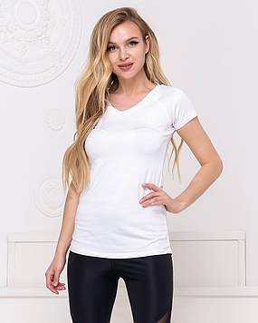 Женская  базовая футболка, белая