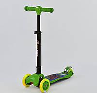 Самокат Best Scooter С 37200, складной руль с фарой, 4 колеса PU со светом, d=12 см, фото 1