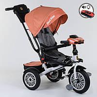 Велосипед 3-х колёсный Best Trike с поворотным сиденьем 9288 В - 4716, складной руль, русское озвучивание, надувные колеса, пульт включения света и, фото 1