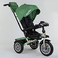 Велосипед 3-х колёсный Best Trike с поворотным сиденьем 9288 В - 7215, складной руль, русское озвучивание, надувные колеса, пульт включения света и