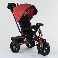 Велосипед 3-х колёсный Best Trike с поворотным сиденьем 9500 - 9172, складной руль, русское озвучивание, надувные колеса, свет