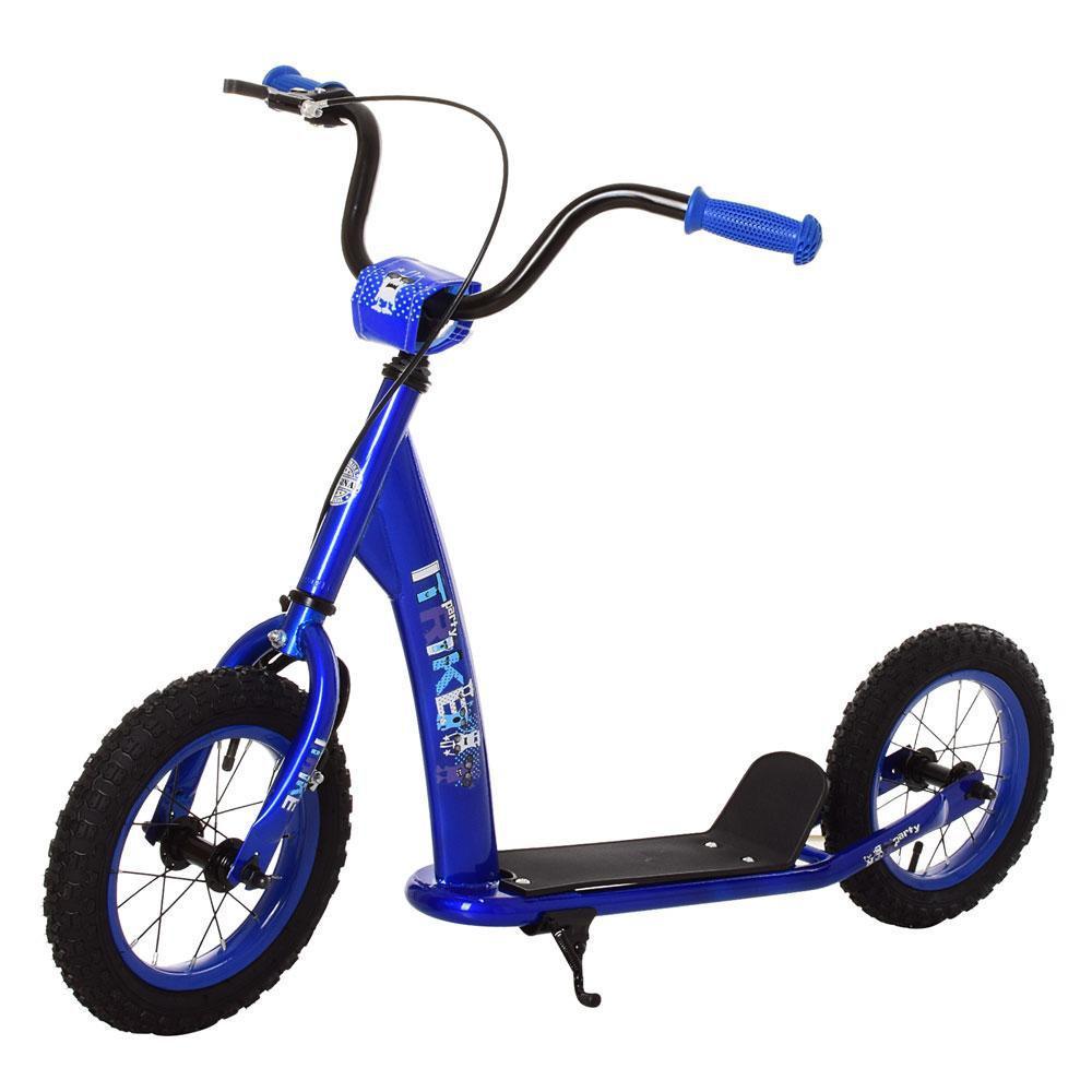 Самокат SR 2-042-BL, 2 колеса резина 12'', ручной тормоз, синий