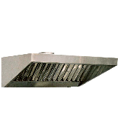 Зонт вытяжной пристенный из нержавеющей стали