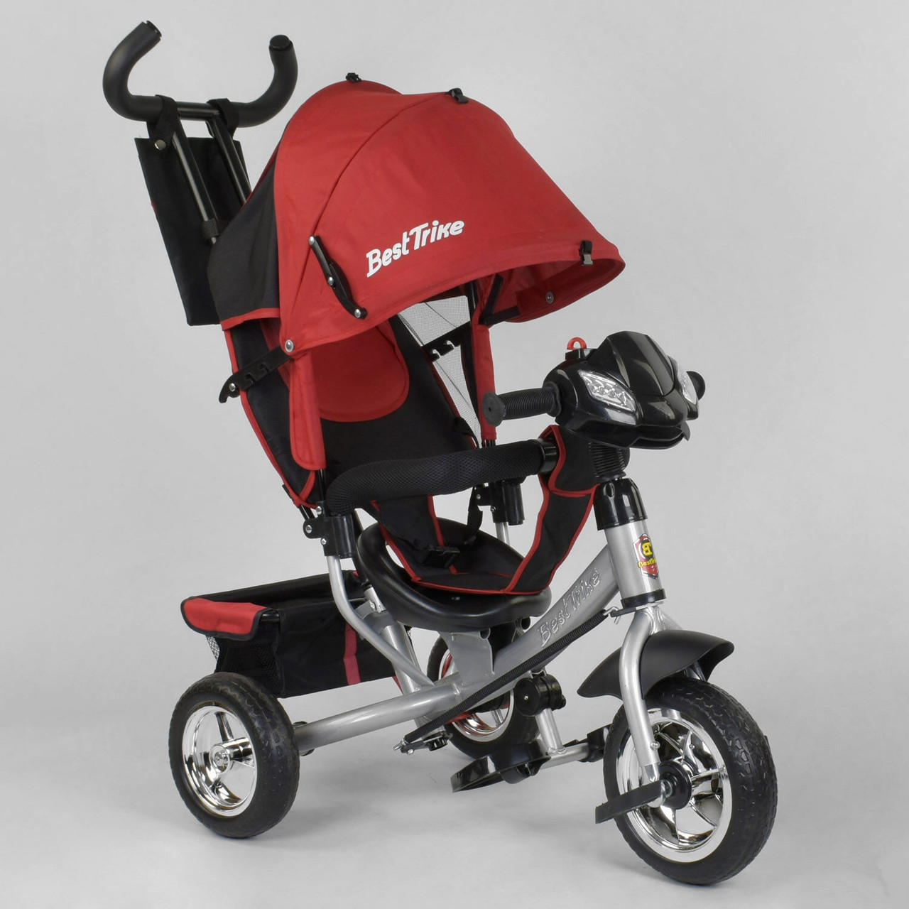 Детский 3-х колёсный велосипед с фарой Best Trike 6588 - 24-545 Красный (колеса пена)