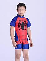 """Плавательный костюм для мальчика """"Человек-паук"""" с защитой от солнца UPF 50+ на рост 125-140"""