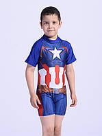 """Плавательный костюм для мальчика """"Капитан Америка"""" с защитой от солнца UPF 50+ на рост 140-150"""