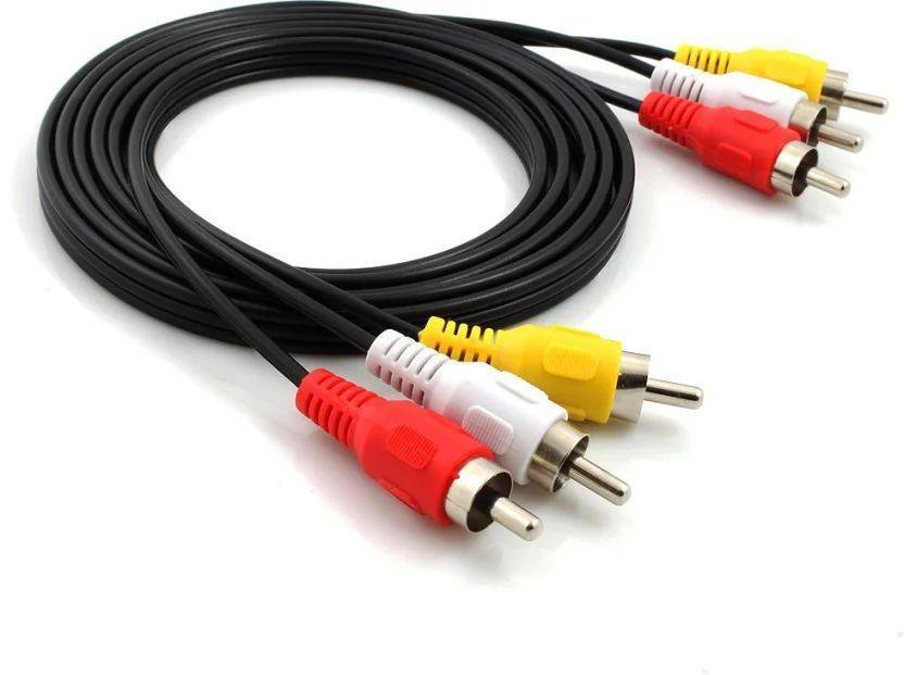 Кабель AV (тюльпан) композитний аудіо-відео кабель 3 RCA- 3RCA