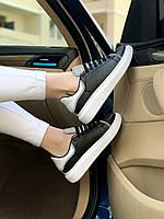 Кроссовки Кожаные Черные Alexander McQueen Black Reflective
