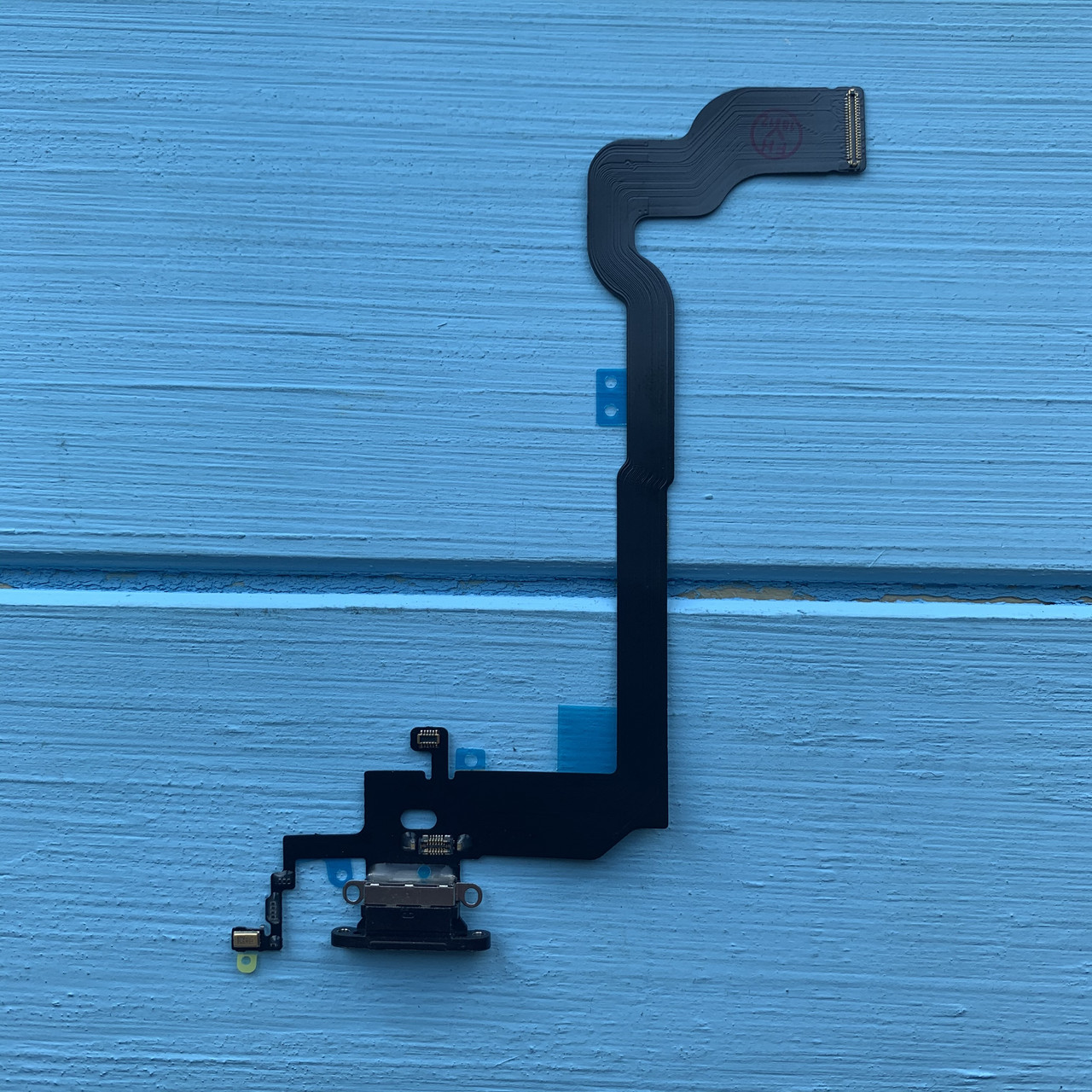 Шлейф Apple iPhone X коннектора зарядки, коннектора наушников Black