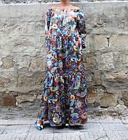 Платье летняя оверсайз из штапеля большие размеры, фото 1