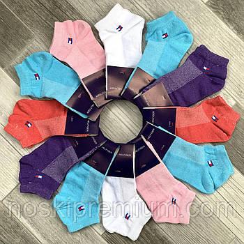 Шкарпетки жіночі спортивні короткі бавовна з сіткою Tommy Hilfiger, розмір 36-40, асорті, 04706